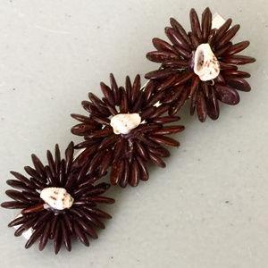 """NWOT """"Shell Flowers"""" Artisan Hair clip"""